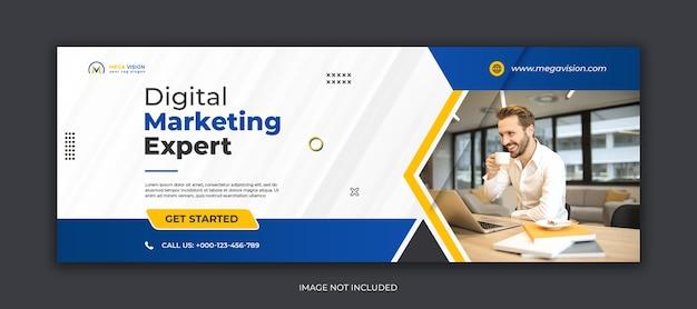 Modèle de publication instagram sur les médias sociaux d'entreprise de marketing numérique