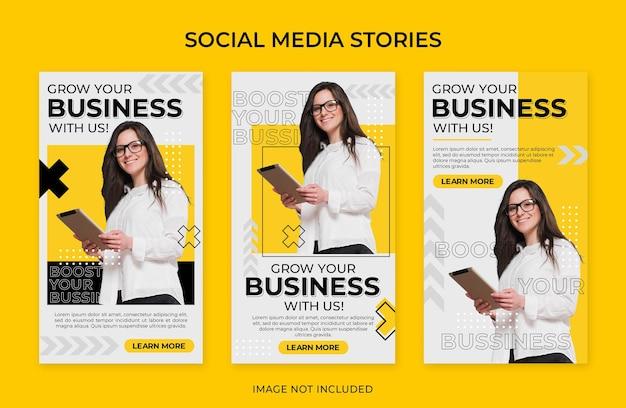 Modèle de publication instagram sur les médias sociaux d'entreprise de promotion