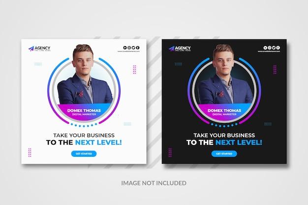 Modèle de publication instagram sur les médias sociaux de marketing numérique