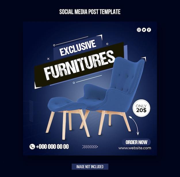 Modèle de publication instagram sur les médias sociaux de meubles exclusifs