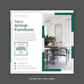Modèle de publication instagram de meubles de design d'intérieur psd premium