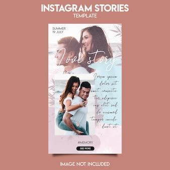 Modèle de publication instagram pour une histoire d'amour