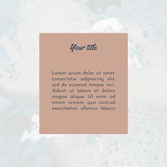 Modèle de publication instagram pour le texte