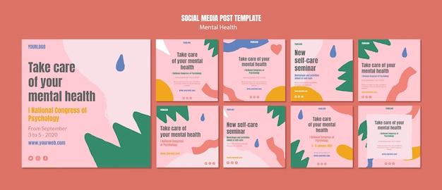 Modèle de publication instagram sur la santé mentale