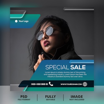 Modèle de publication instagram de vente de médias sociaux
