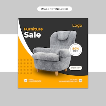 Modèle de publication instagram de vente de meubles