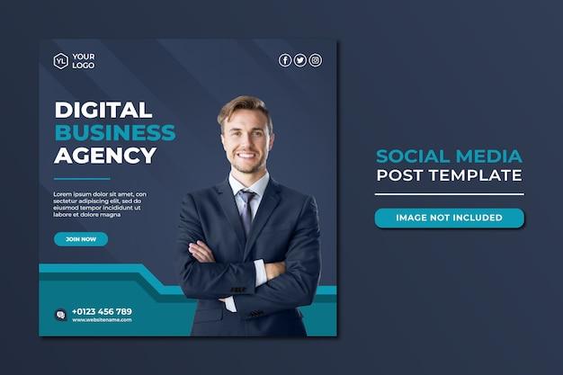 Modèle de publication sur les médias sociaux de l'agence de marketing numérique professionnelle