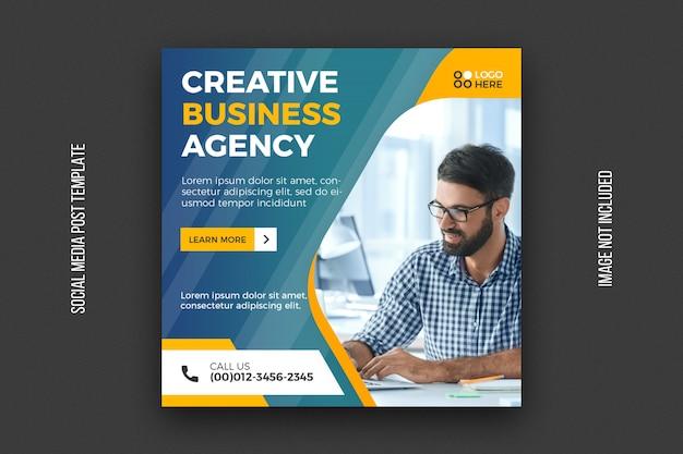Modèle de publication sur les médias sociaux de l'agence numérique