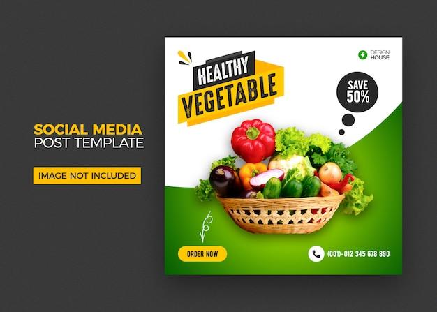 Modèle de publication de médias sociaux alimentaires