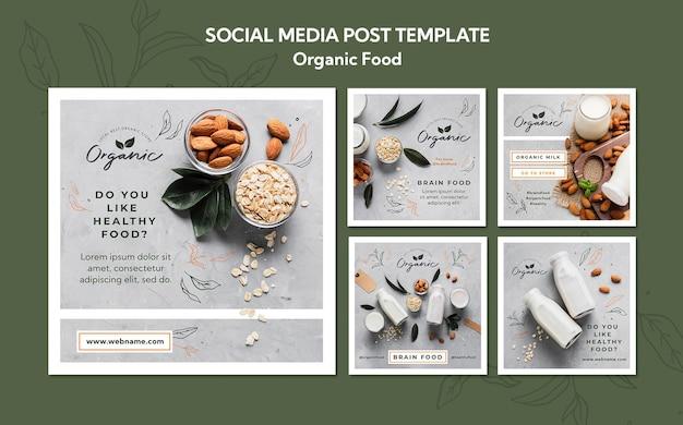 Modèle de publication de médias sociaux sur les aliments biologiques