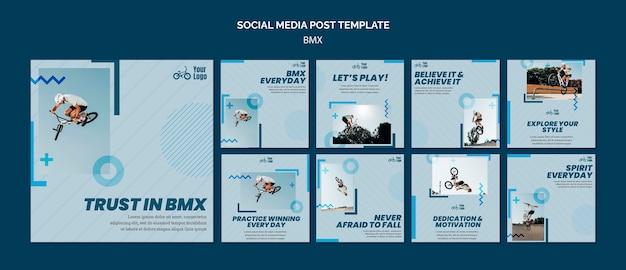 Modèle de publication sur les médias sociaux de la boutique bmx
