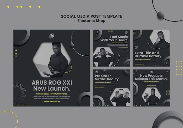 Modèle de publication sur les médias sociaux de la boutique électronique