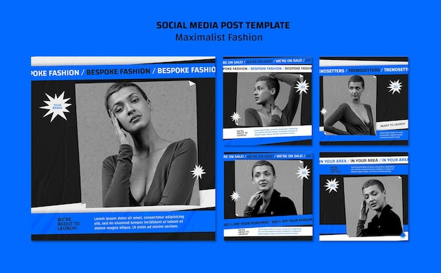 Modèle de publication sur les médias sociaux de la collection de mode
