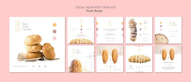 Modèle de publication de médias sociaux de concept de pain