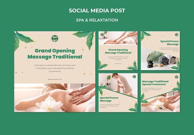 Modèle de publication de médias sociaux concept spa