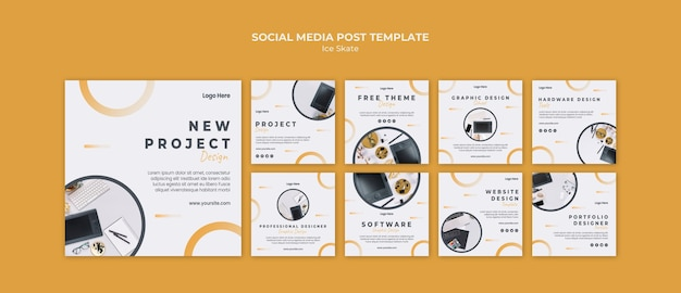 Modèle de publication sur les médias sociaux de conception graphique