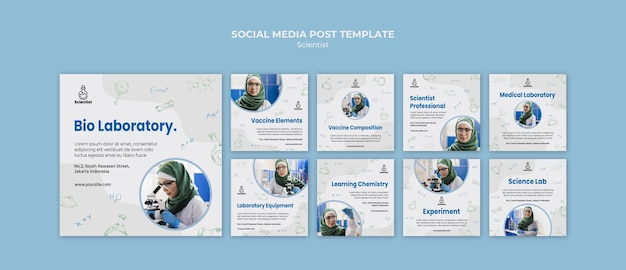 Modèle de publication sur les médias sociaux du club scientifique