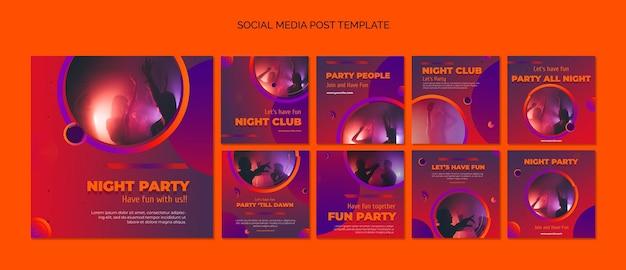 Modèle de publication sur les médias sociaux du parti