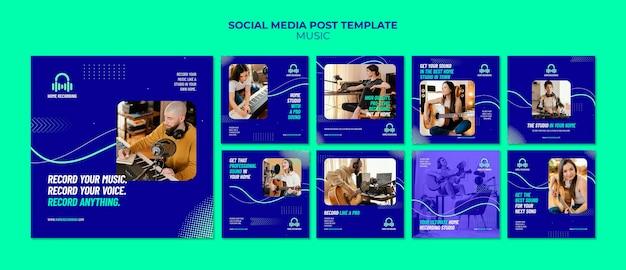 Modèle de publication sur les médias sociaux du studio de musique