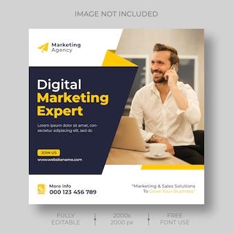 Modèle de publication sur les médias sociaux d'entreprise et le marketing numérique