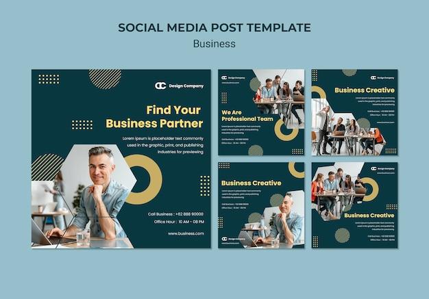 Modèle de publication sur les médias sociaux d'entreprise