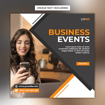 Modèle de publication sur les médias sociaux des événements commerciaux