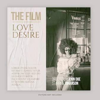 Modèle de publication de médias sociaux de film vintage