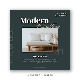 Modèle de publication sur les médias sociaux instagram de meubles