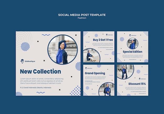 Modèle de publication sur les médias sociaux de magasin de mode