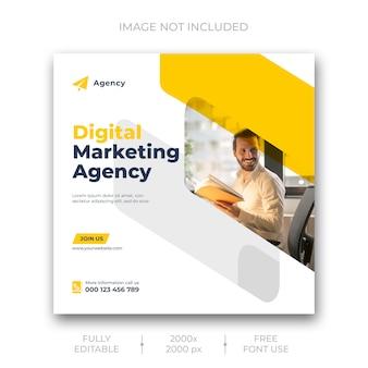 Modèle de publication de médias sociaux de marketing d'entreprise numérique