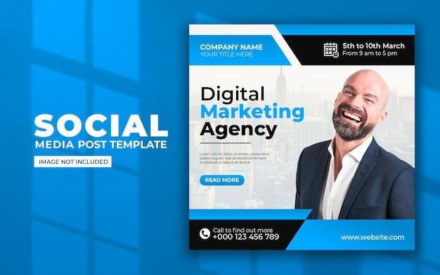 Modèle de publication sur les médias sociaux et le marketing numérique