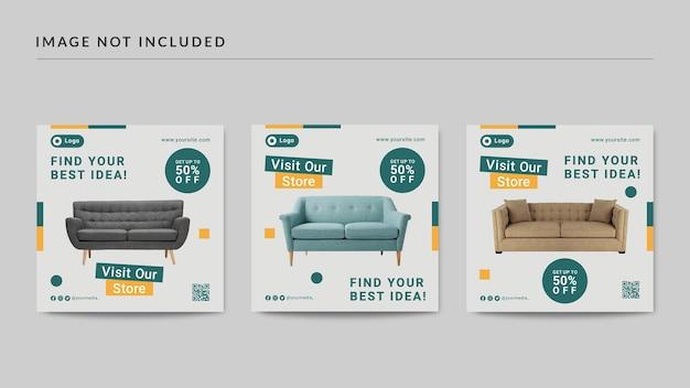 Modèle de publication de médias sociaux de meubles d'idées modernes