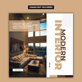 Modèle de publication de médias sociaux de meubles