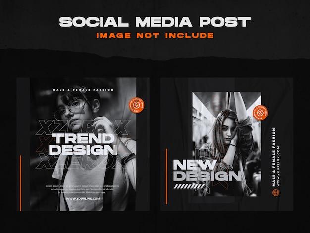 Modèle de publication sur les médias sociaux de la mode urbaine