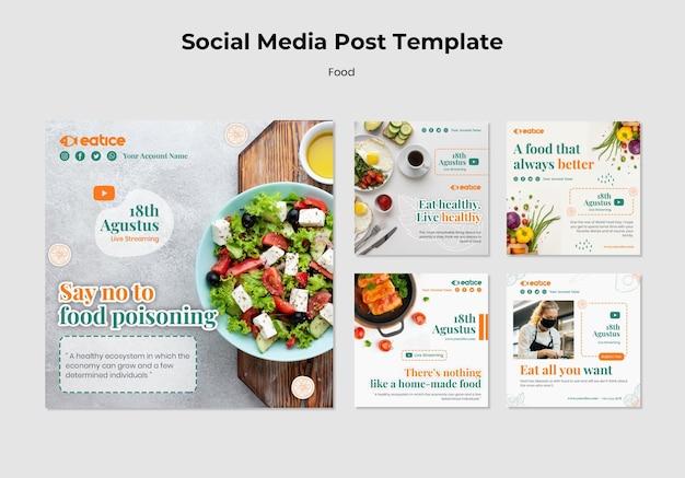 Modèle de publication sur les médias sociaux de la nourriture délicieuse