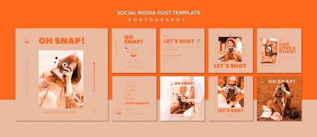 Modèle de publication sur les médias sociaux de photographie