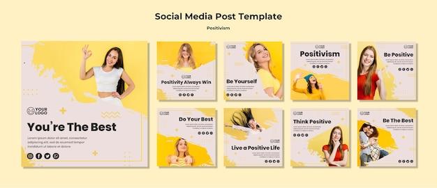 Modèle de publication de médias sociaux de positivisme
