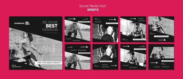 Modèle De Publication Sur Les Médias Sociaux Pour Les Annonces Sportives PSD Premium