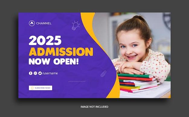 Modèle De Publication Sur Les Médias Sociaux Pour L'éducation Des Enfants PSD Premium