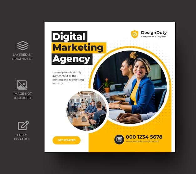 Modèle de publication sur les médias sociaux de promotion du marketing numérique