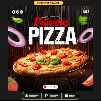 Modèle de publication sur les médias sociaux special delicious pizza