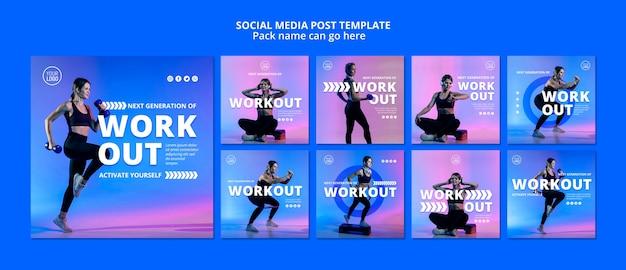 Modèle de publication de médias sociaux sportifs