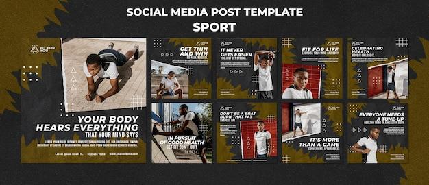 Modèle de publication sur les médias sociaux sportifs