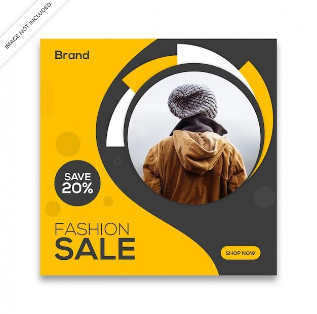 Modèle de publication de médias sociaux de vente dynamique
