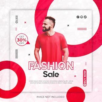 Modèle de publication de médias sociaux de vente de mode ou de bannière instagram