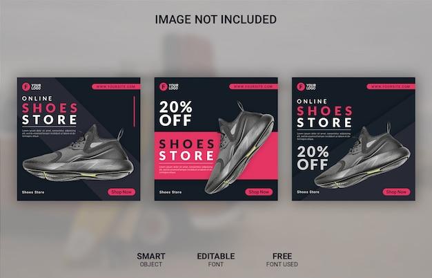 Modèle de publication de médias sociaux de vente de produits de mode