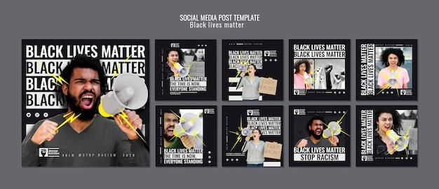 Modèle De Publication De Médias Sociaux Sur Les Vies Noires Psd gratuit
