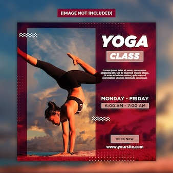 Modèle de publication de médias sociaux de yoga psd