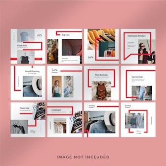 Modèle de publication de mode instagram