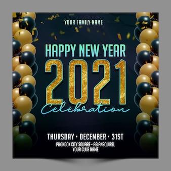 Modèle de publication de nouvel an pour les médias sociaux